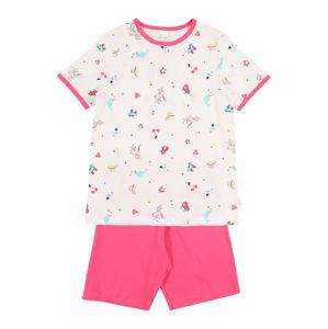 SCHIESSER Pyžamo  biela / ružová