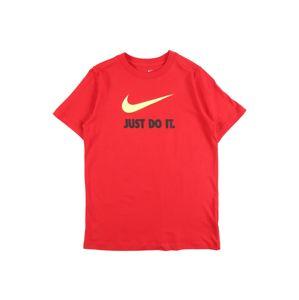 Nike Sportswear Tričko  červená / žltá