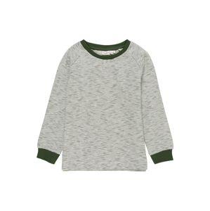 NAME IT Sweatshirt 'VILMAR'  jedľová / biela