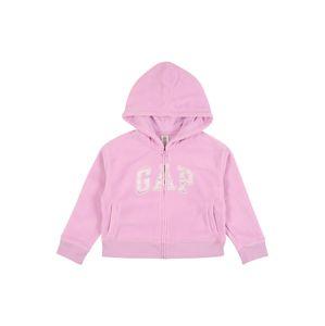 GAP Flisová bunda  pastelovo fialová / púdrová