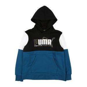 PUMA Športová mikina 'Alpha'  čierna / biela / námornícka modrá