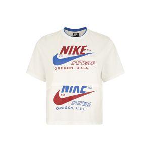 Nike Sportswear Tričko  modré / prírodná biela / krvavo červená