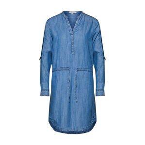 GARCIA Košeľové šaty  modrá denim