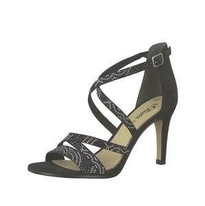 S.Oliver Remienkové sandále  čierna