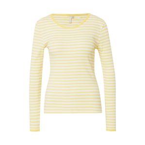 PIECES Tričko 'NANJA'  žlté / biela