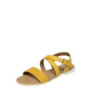 TAMARIS Remienkové sandále  žlté