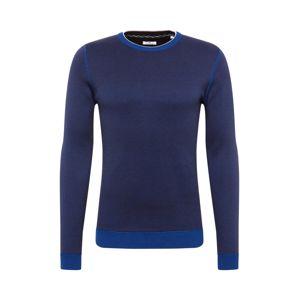 TOM TAILOR Sveter 'birdseye sweater'  modré / tmavosivá