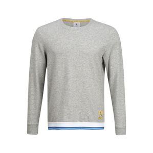 Calvin Klein Underwear Dlhé pyžamo  sivá melírovaná / biela / modrá / žltá