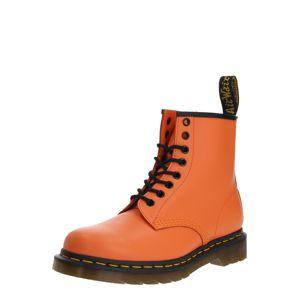 Dr. Martens Šnurovacie čižmy '1460 Smooth'  čierna / oranžová