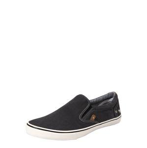 MUSTANG Slip-on obuv  čierna