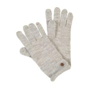 ESPRIT Prstové rukavice 'KnitSolidGlov'  svetlosivá