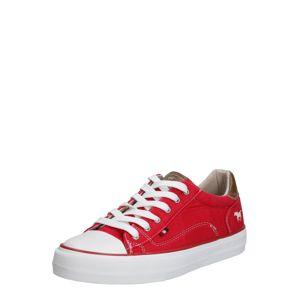MUSTANG Nízke tenisky  biela / červené