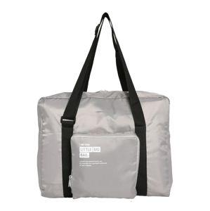 ABOUT YOU Víkendová taška  sivá / biela