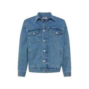 Tommy Jeans Prechodná bunda  modrá denim / svetločervená / biela