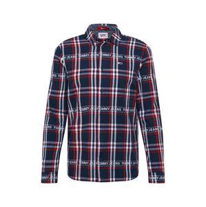 Tommy Jeans Košeľa  červená / námornícka modrá