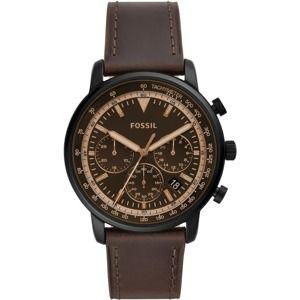 FOSSIL Analógové hodinky 'Goodwin Chrono FS5529'  čokoládová / zlatá