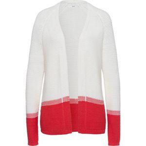 BRAX Tepláková bunda  biela / červené