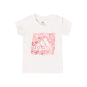 ADIDAS PERFORMANCE Funkčné tričko  pastelovo červená / biela / ružová