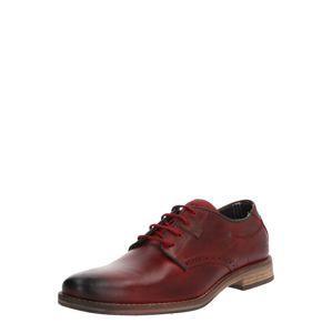 BULLBOXER Šnurovacie topánky  bordová
