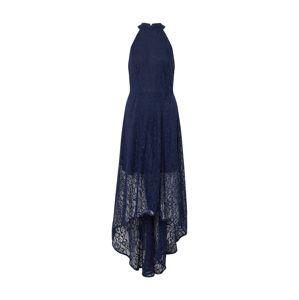 Mela London Večerné šaty 'HIGH NECK HIGH LOW LACE MAXI DRESS'  námornícka modrá