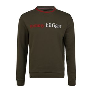 Tommy Hilfiger Underwear Mikina  červená / tmavozelená / biela