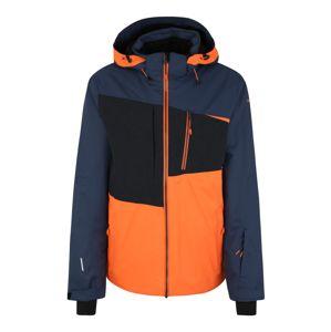 ICEPEAK Skijacke 'Carver'  čierna / námornícka modrá / oranžová