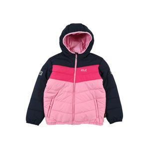 JACK WOLFSKIN Outdoorová bunda 'Three Hills'  svetloružová / ružová / tmavomodrá