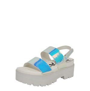 BUFFALO Remienkové sandále 'JEMMA'  biela / strieborná