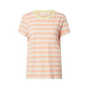 TOM TAILOR DENIM Tričko  biela / oranžová