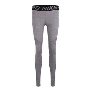 NIKE Športové nohavice 'Pro'  sivá melírovaná / čierna