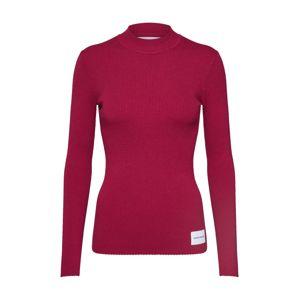 Calvin Klein Jeans Sveter 'ICONIC RIB CREW NECK'  červené