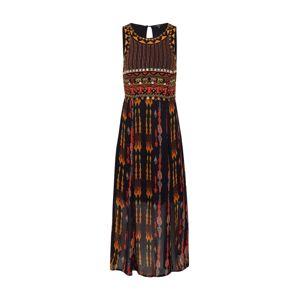 Desigual Šaty 'VEST_SIDNEY'  čierna / zmiešané farby / oranžovo červená