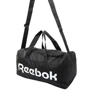 REEBOK Športová taška 'Act Core S Grip'  biela / čierna