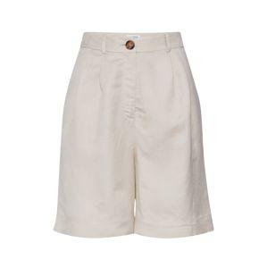 EDITED Plisované nohavice 'Joanie'  šedobiela / biela