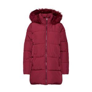 JACQUELINE De YONG Zimný kabát 'ELMA'  malinová