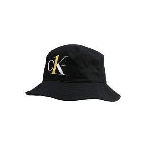 Calvin Klein Jeans Čiapky 'CK1 BUCKET'  biela / čierna / žlté