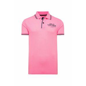 CAMP DAVID Tričko  ružová / námornícka modrá / čierna