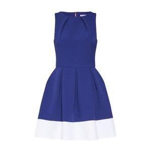 Closet London Kokteilové šaty  kráľovská modrá / biela