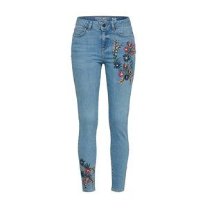 Noisy May Džínsy 'ANKLE FLOWER PRINT'  modrá denim