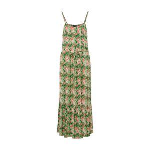 SISTERS POINT Letné šaty 'ISSA-DR1'  zelená / zmiešané farby