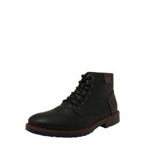 RIEKER Šnurovacie topánky  karamelová / čierna