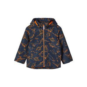NAME IT Prechodná bunda  námornícka modrá / tmavooranžová
