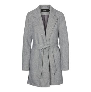 VERO MODA Prechodný kabát  sivá melírovaná