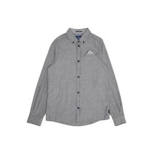 TOM TAILOR Košeľa 'shirt solid'  sivá