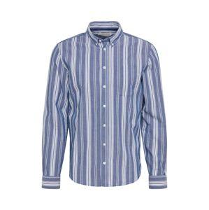 Casual Friday Biznis košeľa 'CFArthur'  biela / námornícka modrá