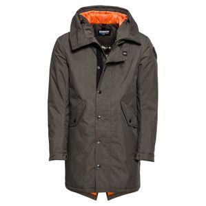 Blauer.USA Zimný kabát 'IMPERMEABILE / TRENCH LUNGHI'  tmavosivá