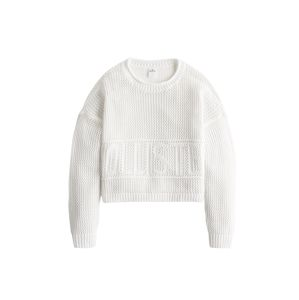 HOLLISTER Sveter 'FASHION GRAPHIC SWEATER'  biela