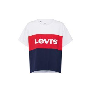LEVI'S Tričko 'Graphic CB Varsity Tee'  námornícka modrá / červené / biela
