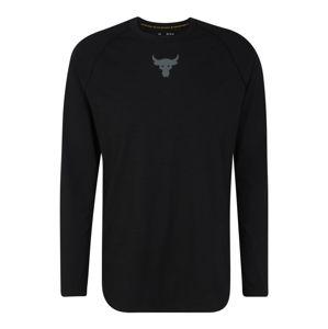 UNDER ARMOUR Funkčné tričko 'Project Rock Charged'  čierna / tmavosivá