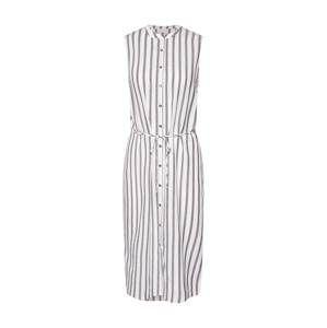 VILA Košeľové šaty 'TINNA'  krémová / svetlosivá